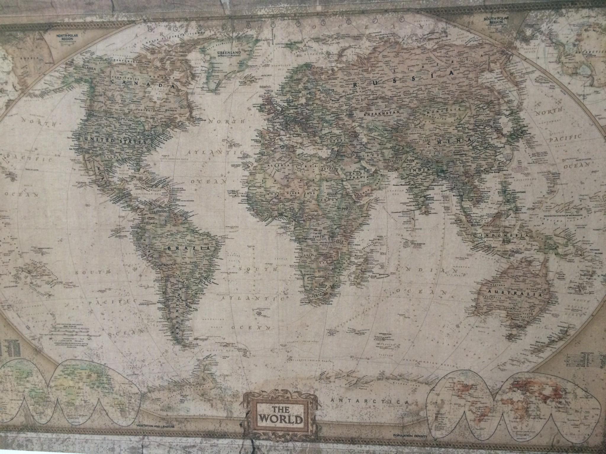 Världskarta tavla