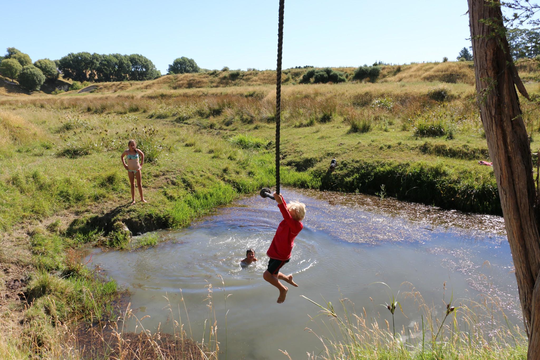 wwoof med barn på nya zeeland