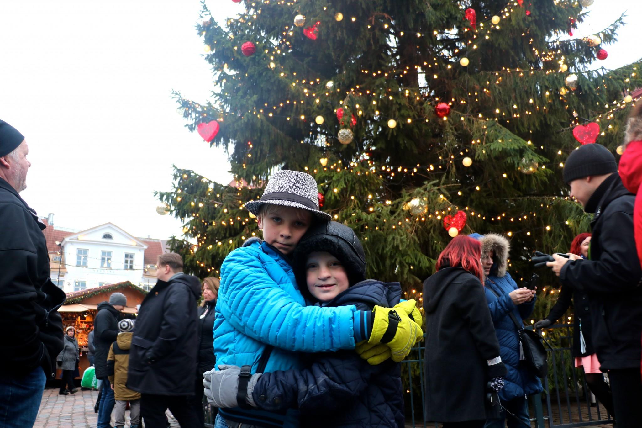 julmarknad i tallinn med barn