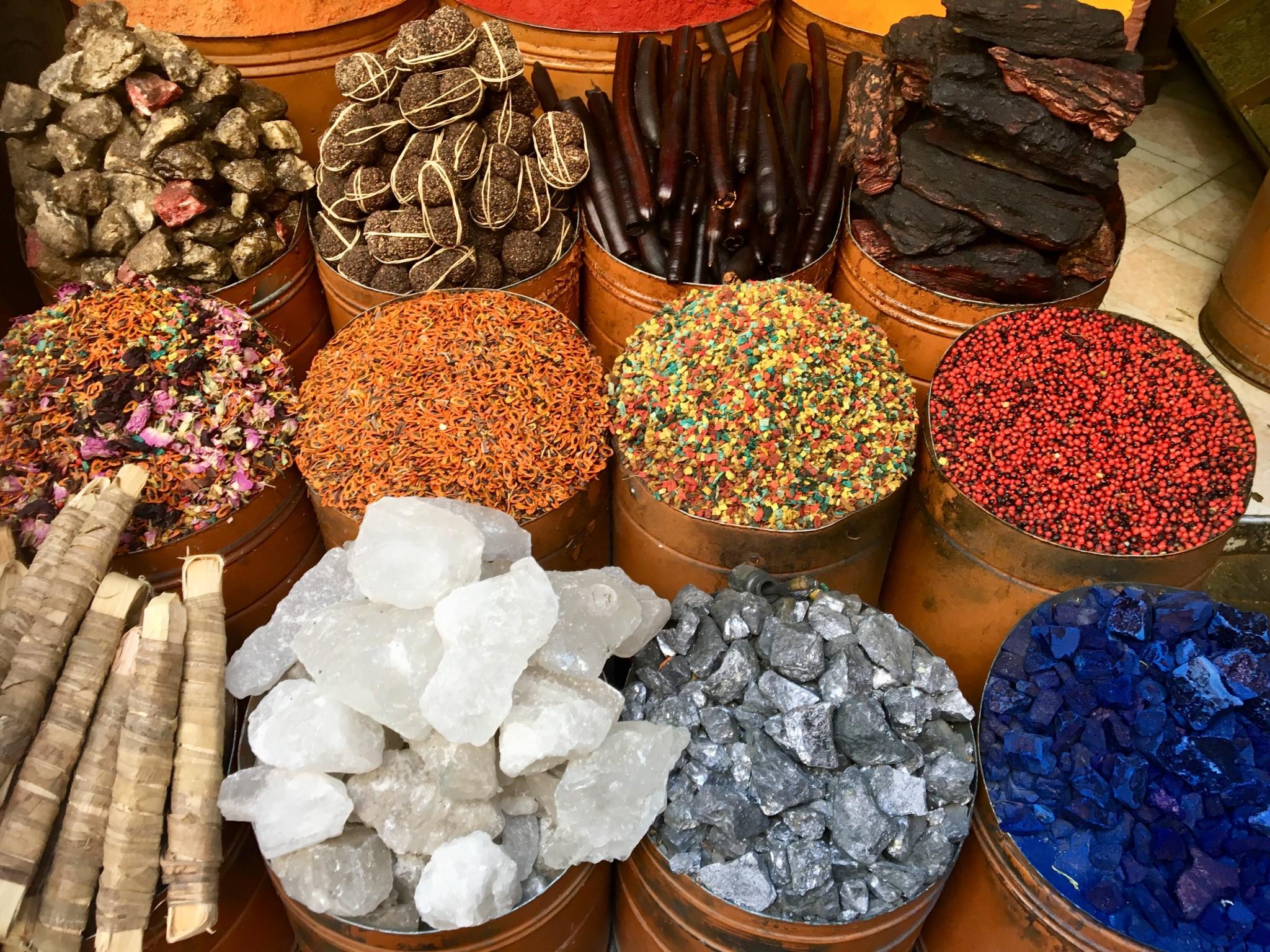 kryddor soukerna i marrakech